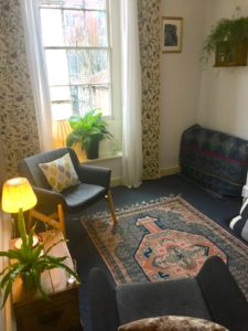 Counselling therapy room in central Bristol